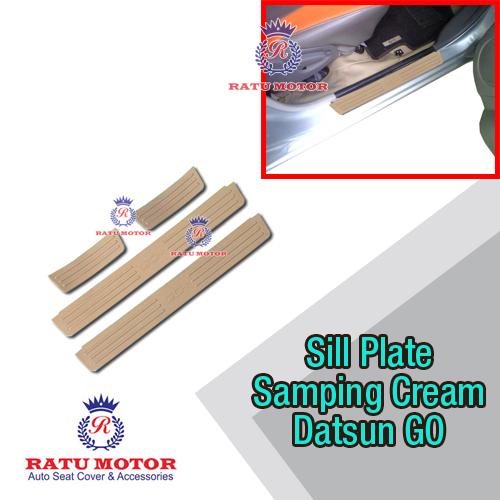 Sill Plate Samping Datsun GO+ Plastik Cream
