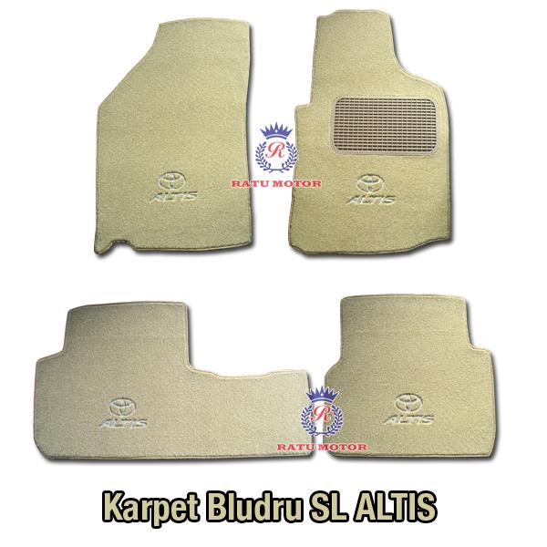 Karpet Bludru Tipe SL Toyota ALTIS 2012 Tanpa Bagasi