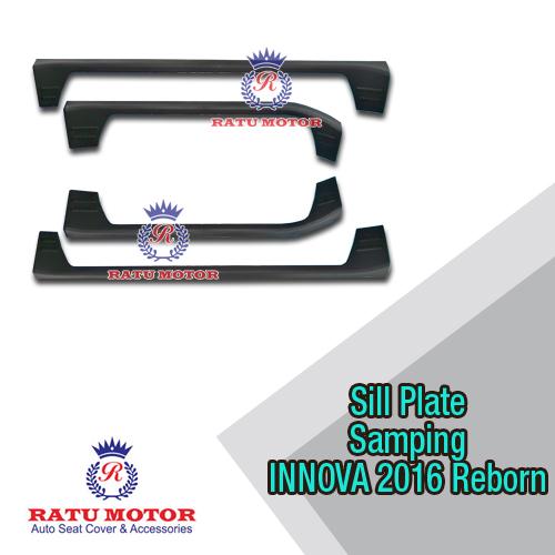 Sill Plate Samping All New INNOVA 2016-2018 Reborn Plastik Hitam