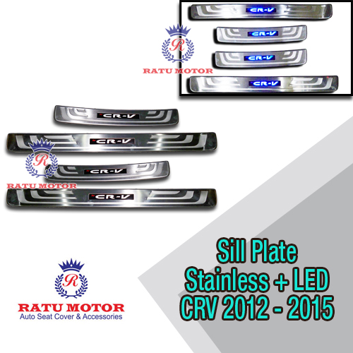 Sill Plate Samping Grand New CRV 2012-2015 Stainless + LED