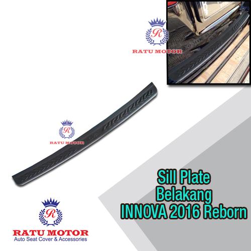 Sill Plate Belakang All New INNOVA 2016-2018 Reborn Plastik Hitam