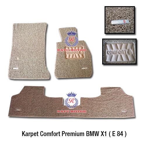 COMFORT PREMIUM Karpet Keriting BMW X1 E48 tahun 2009-2015 Tanpa Bagasi