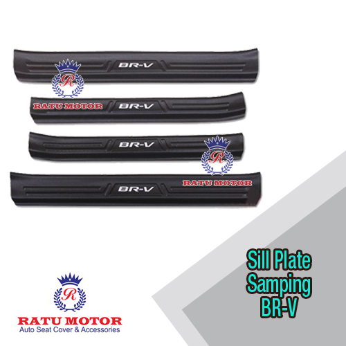 Sill Plate Samping Honda BRV 2016-2019 Plastik Hitam / Cream