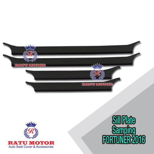 Sill Plate Samping All New FORTUNER 2016-2019 Plastik Hitam