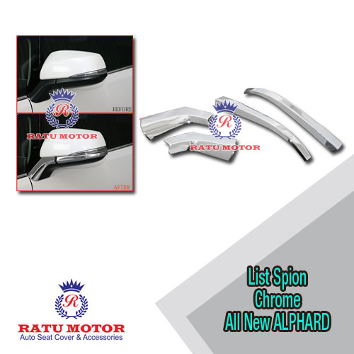 List Spion All New ALPHARD 2016-2018 Chrome