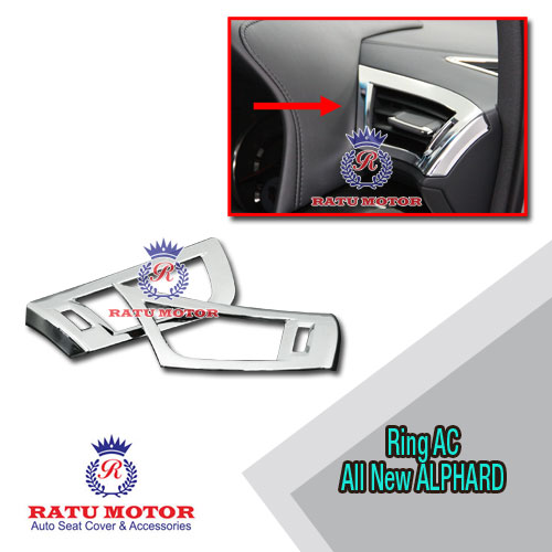 Cover Outlet AC Front All New ALPHARD 2016-2018 Chrome