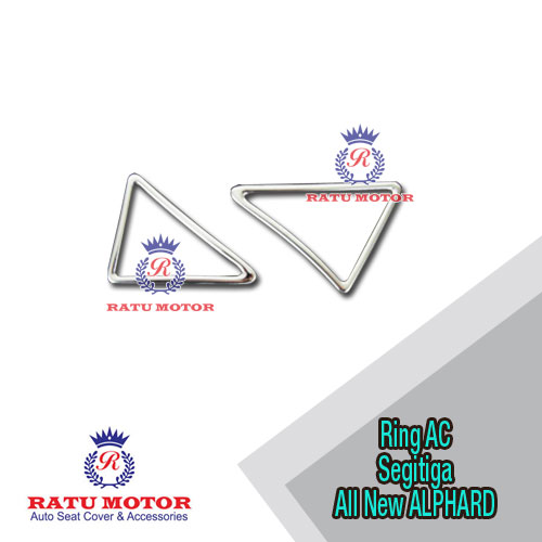 Cover Outlet AC Triangle (Segitiga) All New ALPHARD 2016-2018 Chrome
