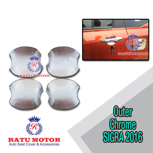 Outer Handle Daihatsu SIGRA 2016 Model Mangkok Chrome