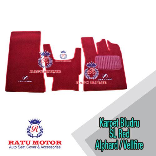 Karpet Bludru Tipe SL - ALPHARD / VELLFIRE 2012 Red