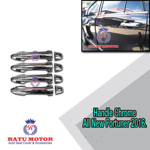 Cover Handle All New Fortuner 2016 Chrome Model Biasa