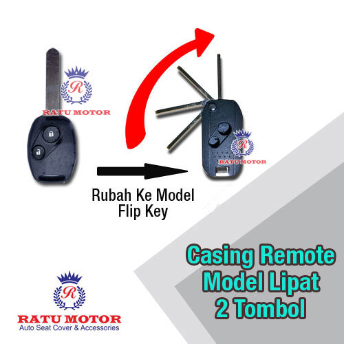 Casing Remote Flip Key MOBILIO 2013-2015, BRIO, JAZZ New, CRV New (2 Tombol)