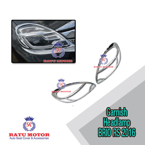 Garnish Headlamp BRIO RS 2016-2017 Chrome