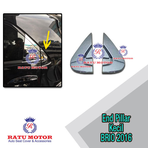 Cover End Pillar Kecil New BRIO 2016-2017 Chrome