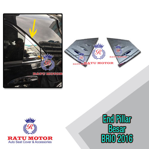 Cover End Pillar Besar / Middle Pillar New BRIO 2016-2017 Chrome