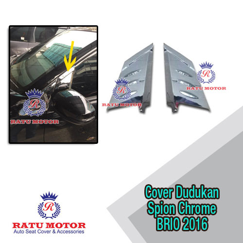 Cover Dudukan Spion New BRIO 2016-2017 Chrome