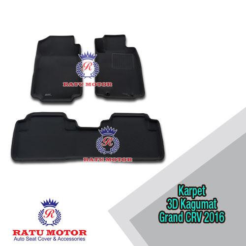 Karpet 3D KAGUMAT Grand CRV 2013-2016 (2 Brs) Bahan Polyester MAXpider