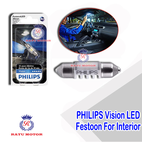 PHILIPS Vision LED Festoon 12V 30mm White For Interior