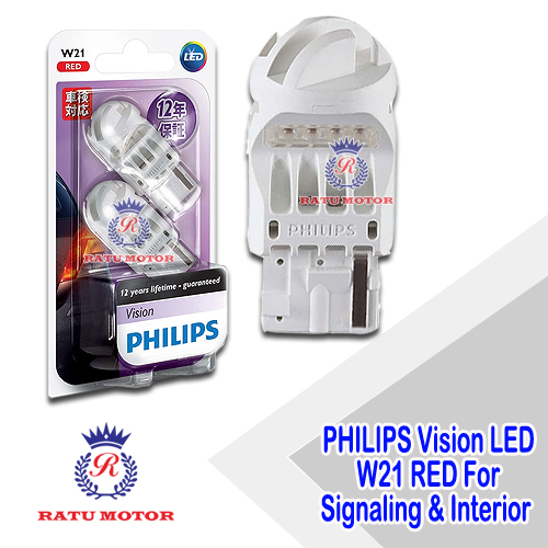 PHILIPS Vision LED Ultinon W21 12V Red For Signaling