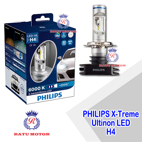 PHILIPS X-Treme Ultinon LED H4 6000K 12V 23Watt For Headlamp