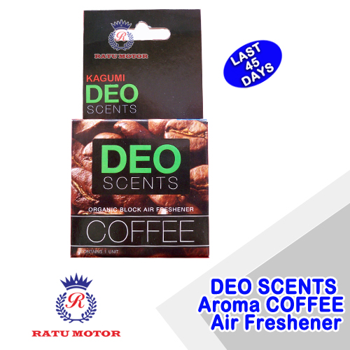 DEO SCENTS Car Air Freshener Aroma COFFEE (1 Pc)