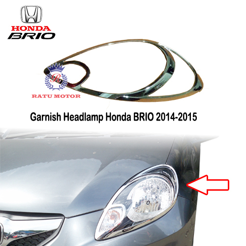 Garnish Headlamp Honda BRIO 2014-2015 Chrome