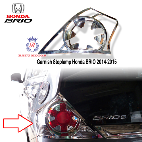 Garnish Stoplamp Honda BRIO 2014-2015 Chrome