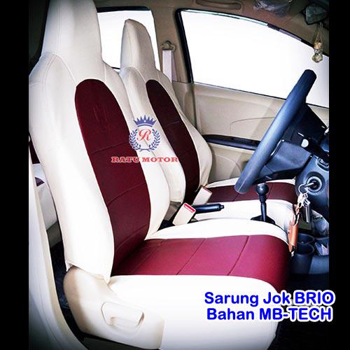 RILEX MBTech - Sarung Jok BRIO 2013-2020 Bahan Semi Kulit