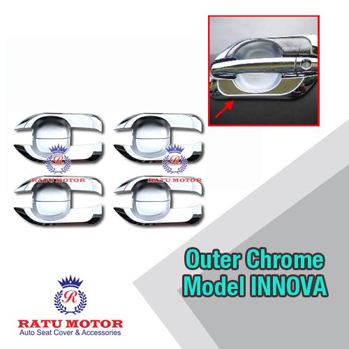 Outer Handle Toyota FORTUNER 2005-2015 Model Innova Chrome