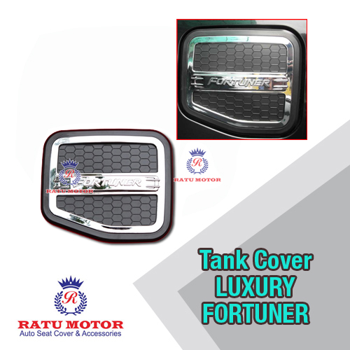 Tank Cover FORTUNER 2005-2015 Model Luxury Hitam / Putih