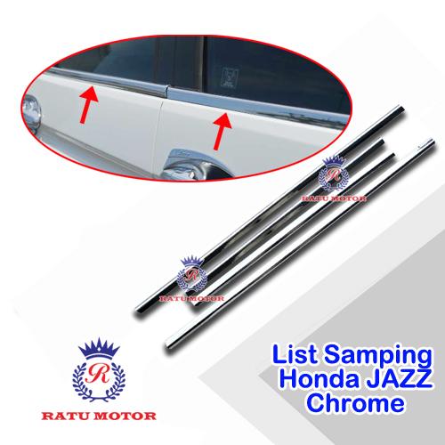 List Kaca Samping All New JAZZ 2014-2018 Tempel Chrome