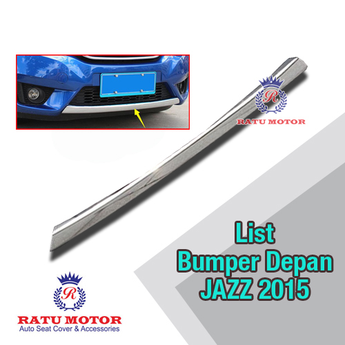 List Front Cover Bumper Depan All New JAZZ 2014-2018 Chrome
