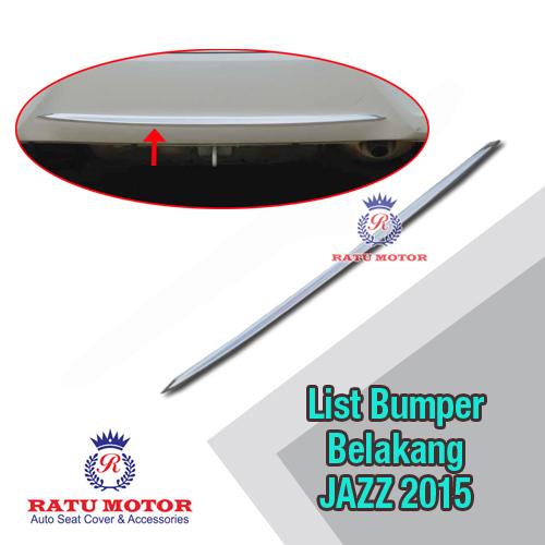 List Bumper Belakang All New JAZZ 2014-2018 Chrome