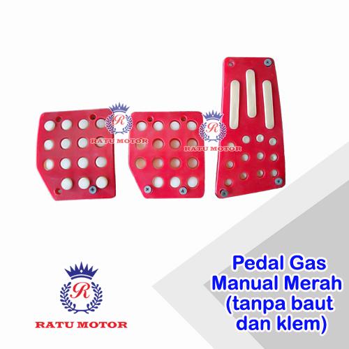 Pedal Gas Manual Merah (Baut dan Klem tidak lengkap)