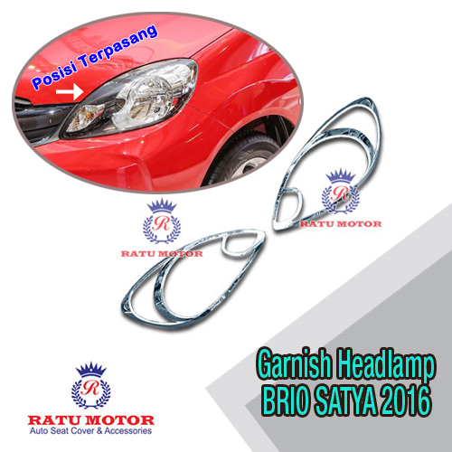 Garnish Headlamp BRIO Non RS 2016-2017 Chrome