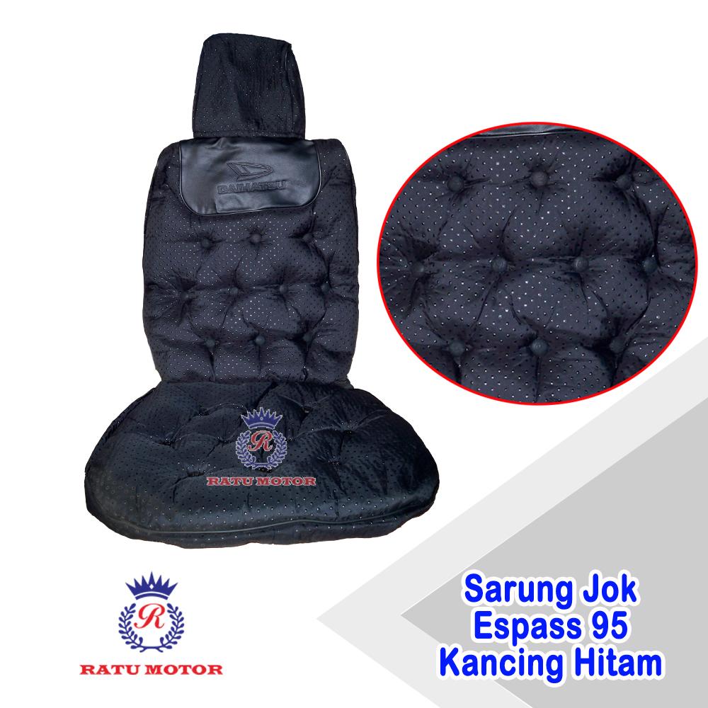 Sarung Jok Daihatsu ESPASS 1995 (Kepala Biasa) Model  Kancing Bintik Hitam