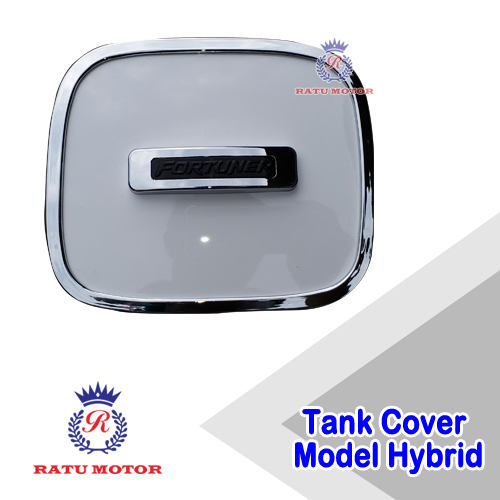 Tank Cover All New FORTUNER 2016-2017 Model Hybrid Putih Chrome