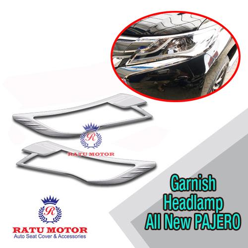 Garnish Headlamp All New PAJERO Sport 2016-2018 Chrome