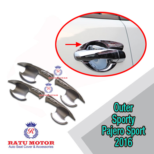 Outer Handle All New PAJERO SPORT 2016-2018 Model Sporty Chrome