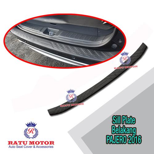 Sill Plate Belakang All New PAJERO SPORT 2016-2018 Plastik Hitam