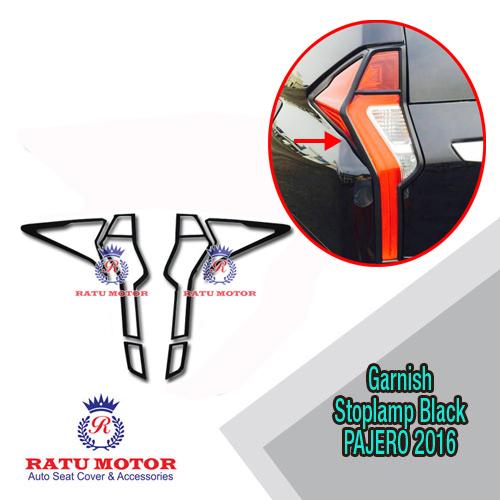 Garnish Stoplamp All New PAJERO SPORT 2016-2018 Blacktivo