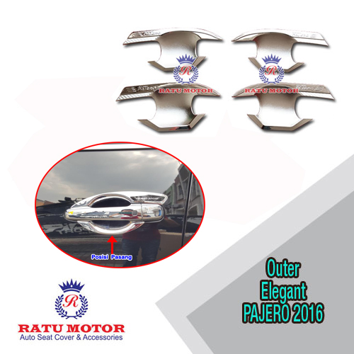 Outer Handle All New PAJERO SPORT 2016-2018 Model Elegant Chrome