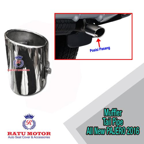 Muffler Tail Pipe All New PAJERO SPORT 2016-2018 Stainless (OT)