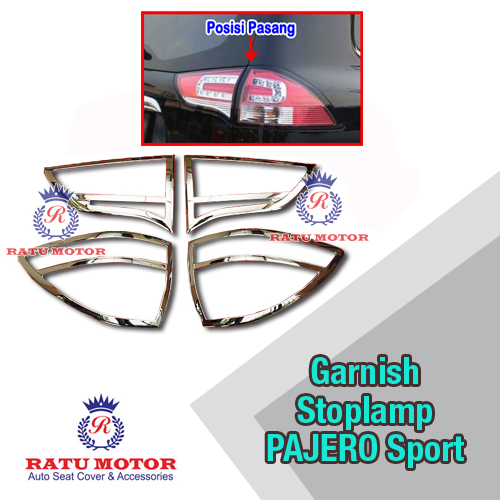 Garnish Stoplamp PAJERO Sport 2014-2015 Chrome
