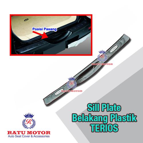 Sill Plate Belakang TERIOS 2006-2017 Plastik Hitam