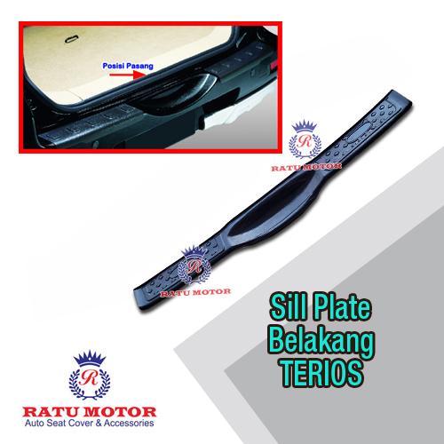Sill Plate Belakang TERIOS 2006-2017 Plastik Hitam Polos