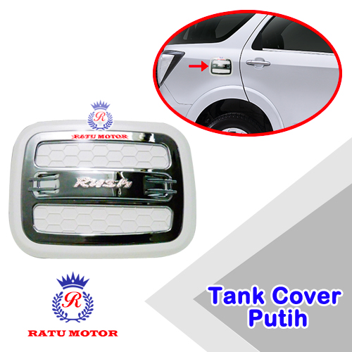Tank Cover RUSH 2005-2017 All Varian Model Luxury Putih