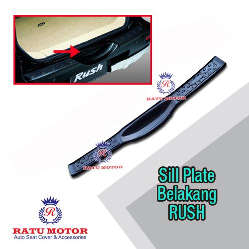 Sill Plate Belakang RUSH 2006-2017 Plastik Hitam Polos