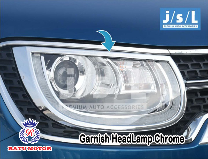 Garnish Headlamp Suzuki IGNIS 2017 Chrome