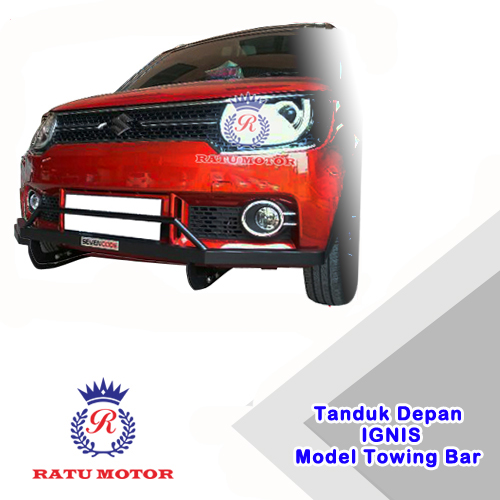 Tanduk Depan IGNIS Model Towing Full Bumper (List Hitam / Merah) Tanpa Lampu DRL
