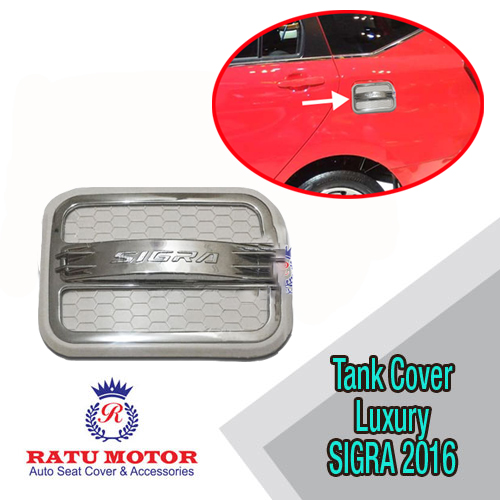 Tank Cover SIGRA 2016 Model Luxury Hitam/Putih